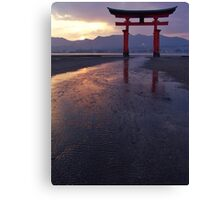 The sunsets in Miyajima Canvas Print