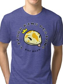 Lizard King Designs Logo with Name Tri-blend T-Shirt