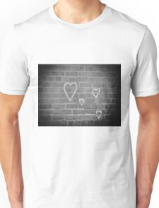 Hearts On Wall Unisex T-Shirt