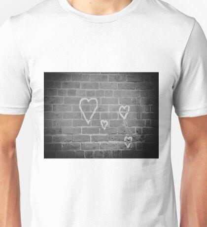 Hearts On Wall Unisex T-Shirt