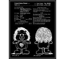 Brave Heart Lion Patent - Black Photographic Print