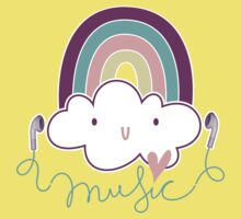 I Love Music Doodle Kids Tee