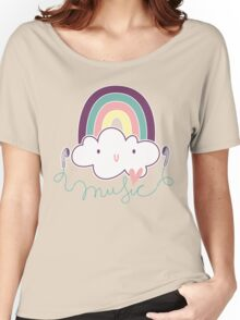 I Love Music Doodle Women's Relaxed Fit T-Shirt