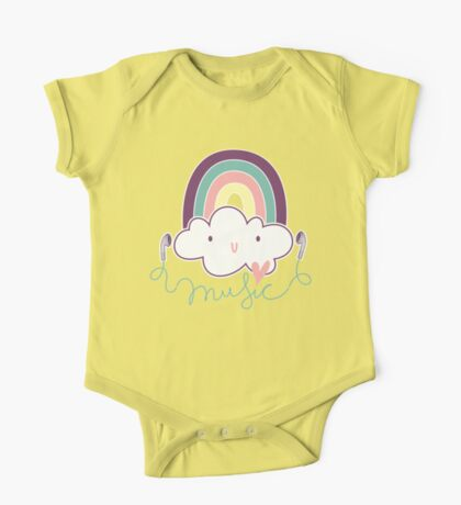 I Love Music Doodle One Piece - Short Sleeve