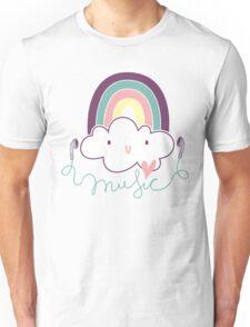 I Love Music Doodle Unisex T-Shirt