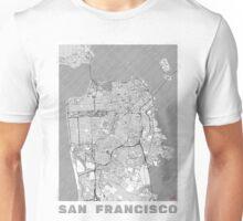 San Francisco Map Line Unisex T-Shirt
