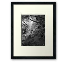 Goathland Mallyan Spout Waterfall B&W Framed Print