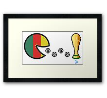 Cameroon World Cup 2014 Framed Print