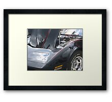 Black Engine Framed Print