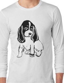 Black and White Cocker Spaniel Art Long Sleeve T-Shirt