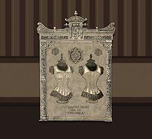 Victorian Corset- Iphone Ipad Ipod case by iddaknoe