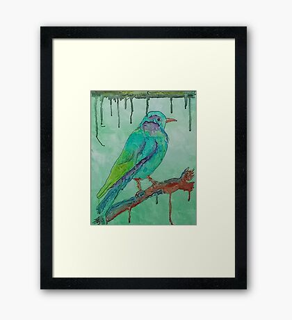 'Coloured Bird' Framed Print