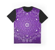 Mandala Purple and White Graphic T-Shirt