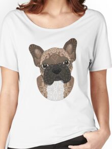 Brown Frenchie Puppy 001 Women's Relaxed Fit T-Shirt