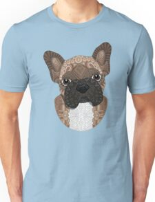 Brown Frenchie Puppy 001 Unisex T-Shirt