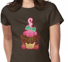 Bow Cupcake Womens Fitted T-Shirt
