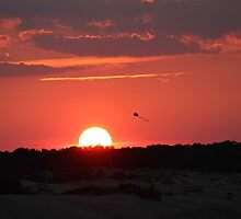 Sunset and Kite by virginian