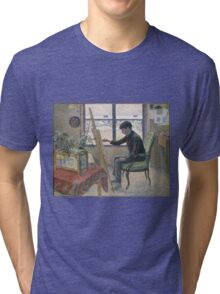 Lucien Pissarro - Interior Of The Studio. Boy portrait: cute boy, junior artist, child, beautiful, draw, smile, little, Interior,  studio Tri-blend T-Shirt