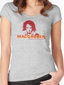 MacGruber Women's Fitted Scoop T-Shirt