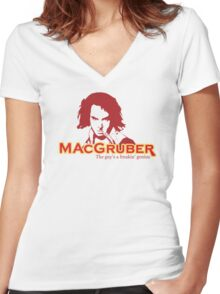 MacGruber Women's Fitted V-Neck T-Shirt