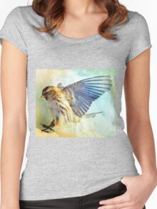 Flight I (All proceeds donated to Cancer Research) Women's Fitted Scoop T-Shirt