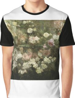 Maria Oakey Dewing - Garden In May. Still life with flowers: flowers, blossom, peony, Rose, floral flora, wonderful flower, plants, cute plant for kitchen interior, garden, pink Graphic T-Shirt