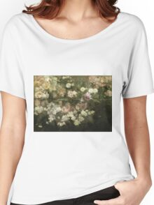 Maria Oakey Dewing - Garden In May. Still life with flowers: flowers, blossom, peony, Rose, floral flora, wonderful flower, plants, cute plant for kitchen interior, garden, pink Women's Relaxed Fit T-Shirt