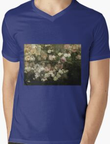 Maria Oakey Dewing - Garden In May. Still life with flowers: flowers, blossom, peony, Rose, floral flora, wonderful flower, plants, cute plant for kitchen interior, garden, pink Mens V-Neck T-Shirt