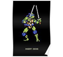 8-Bit Turtle Power Poster