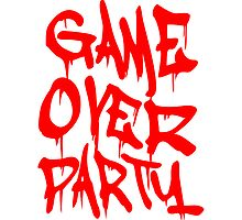 Game Over Blut Horror Graffiti by Style-O-Mat