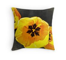 Yellow Tulips pillow Throw Pillow