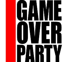 Cool Game Over Party Logo by Style-O-Mat