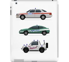Police car challenge iPad Case/Skin