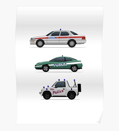 Police car challenge Poster