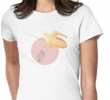 Vintage Electric Hand Mixer Retro Baking Womens Fitted T-Shirt