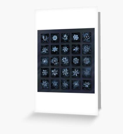 Snowflake collage - Season 2013 dark crystals Greeting Card