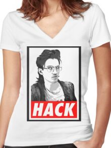 Hack Women's Fitted V-Neck T-Shirt