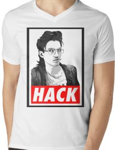 Hack Mens V-Neck T-Shirt