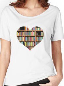 Books heart Women's Relaxed Fit T-Shirt