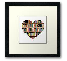 Books heart Framed Print
