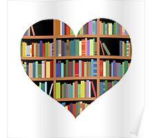 Books heart Poster