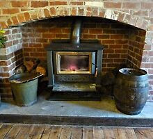 *Fireplace in Country Pub - Greendale, Vic. Australia* by EdsMum