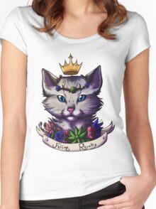 Silver Ocicat Women's Fitted Scoop T-Shirt