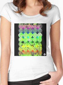Mandala effect psychedelic take album art  Women's Fitted Scoop T-Shirt
