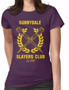 Sunnydale Slayers Club Womens Fitted T-Shirt