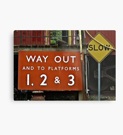 Way Out Sign Metal Print