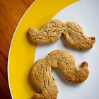 Pistachio & white choc chip moustache biscuits by SLRphotography