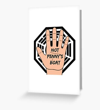 LOST Logo + Not Penny's Boat Greeting Card