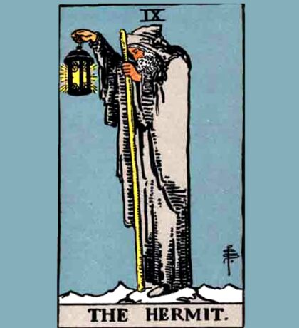 The Hermit Tarot Card  Sticker