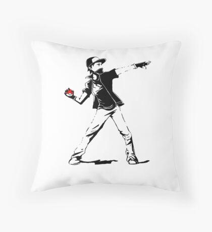 Banksy Pokemon Throw Pillow